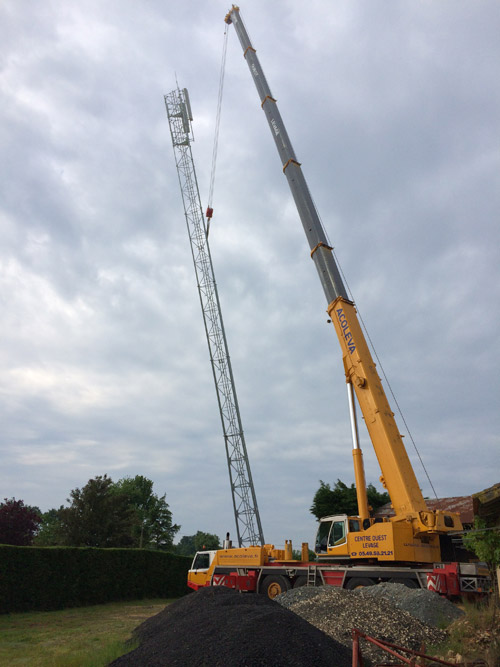 Relevage de pylônes de télécommunications Maillé (86)